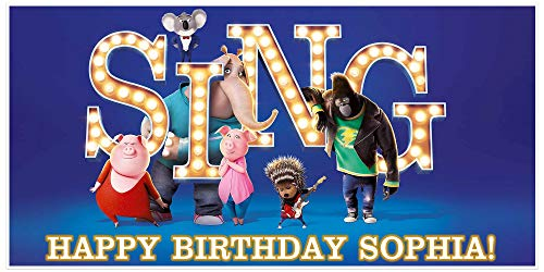 Sing Movie Birthday Banner Personalized Party Backdrop]()