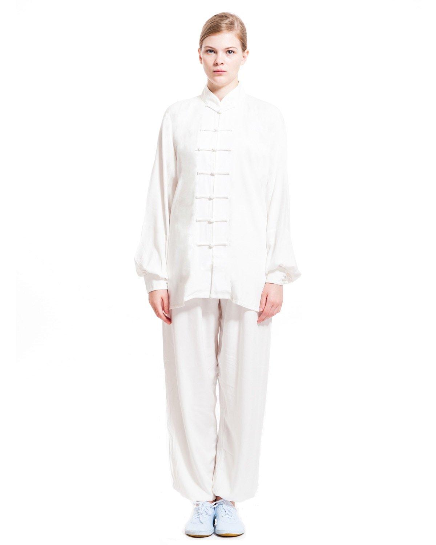 ICNbuys Women's Tai Chi Uniform Cotton Black White WTCUC000