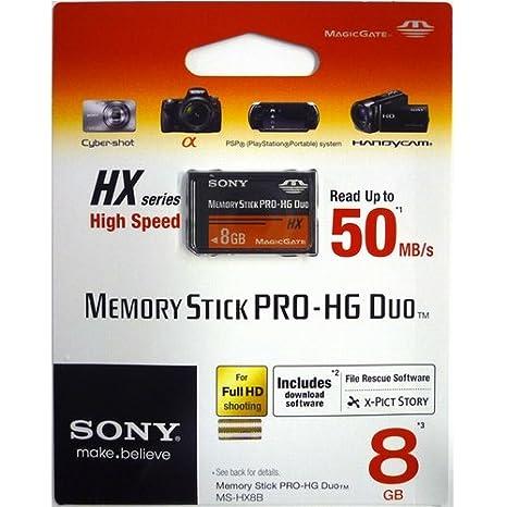 Sony 8GB MS Pro-HG Duo HX - Tarjeta de Memoria (8 GB, Memory ...