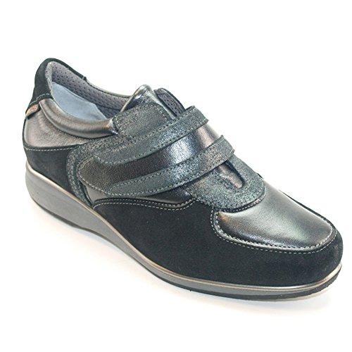 Nacarado Elegante descuento Cómodo Números zapatillas Hergos Negro 8131 Gamuza Últimos Y H Piel FAtqwn