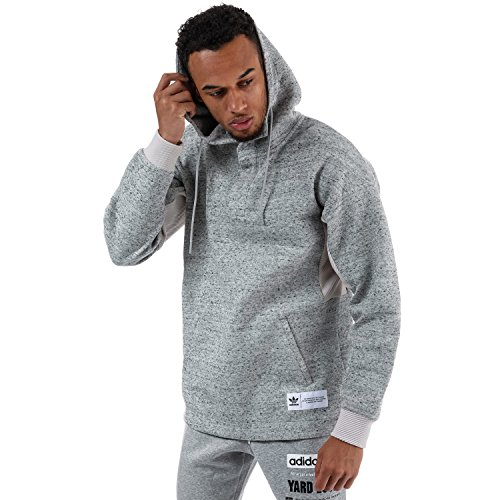 (adidas Originals Men's Crazy Hybrid Hoody L Grey)