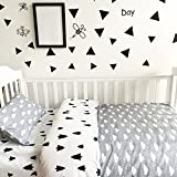 Samber Nursery Bedding Set Baby Crib Pure Cotton 3-Piece Set Baby Cot Bedding Set Children Baby Bed 3 Piece Bale Set Bed Sheet Quilt Cover Pillowcase Set (Tree)
