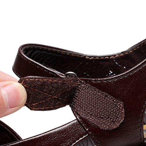 Tongs Nœud Sur Avec Femme En Cuir Devant Marron Chaussure Pu Plates Confort Le Youngsoul Sandales Ete nCaqxR
