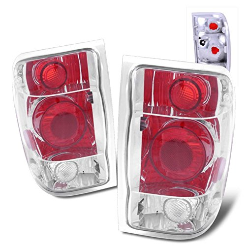 SPPC Chrome Euro Tail Lights Assembly Set for Ford Ranger - (Pair) Includes Driver Left and Passenger Right Side ()