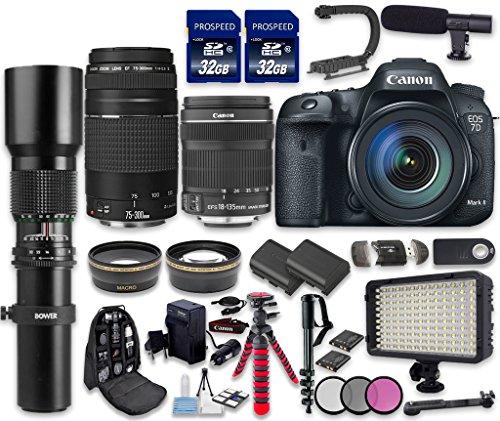 Canon-EOS-7D-Mark-II-DSLR-Camera-Bundle-with-Canon-EF-S-18-135mm-f35-56-IS-STM-Lens-Tamron-Zoom-Telephoto-AF-70-300mm-f4-56-Di-LD-Macro-Autofocus-Lens-500mm-f8-Preset-Lens