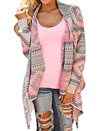 Shinekoo® Women Drape Front Geometric Irregular Cardigan Sweater Outwear Shawl