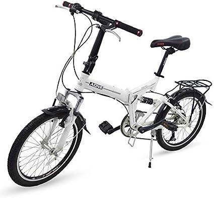 Grupo K-2 Riscko - Bicicleta Plegable Urbana   Cambios Shimano   Bicicleta Plagable con Amortiguador   Modelo bep-34   Adulto de 20 Color: Rojo: Amazon.es: Deportes y aire libre