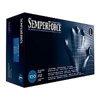 Black Nitrile Gloves, Powder Free, Latex Free, Semperforce®, 90 Gloves/Box Size XXL (90-XXL)