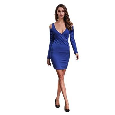 c8b7a75a3 Vectry Vestidos De Fiesta Cortos Sexy Vestidos Mujer Vestido Hombros  Descubiertos Vestido Escote V Mini Vestido Vestidos De Fiesta Cortos  Elegantes Vestido  ...