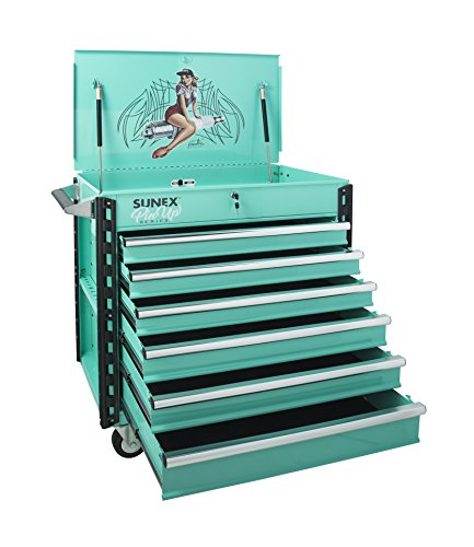 "Sunex 8057xtgertie Premium Full Drawer Pin Up Girl Service Cart- ""Gertie"""