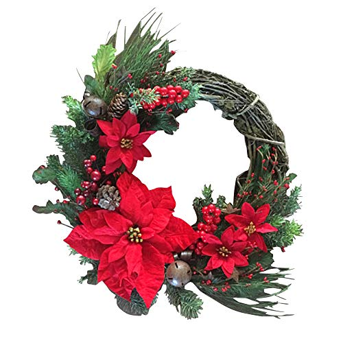 Firlar Christmas Wreath Hanging Fall Front Door Decor Home Artificial Flowers Garland Holiday Props for Wedding & Party from Firlar