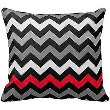 Amazon Com Sixstars Black Amp White Chevron With Red Stripe