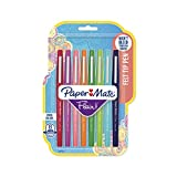 Paper Mate Flair Felt Tip Pens, Medium Point (0.7mm), Assorted Colors, 8 Count