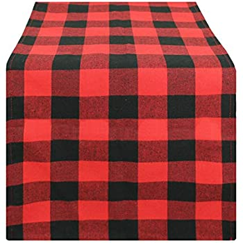 Amazon Com Jinsey Buffalo Plaid Table Runner For Camping