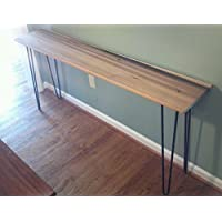 Beautiful poplar console sofa table with black hairpin legs
