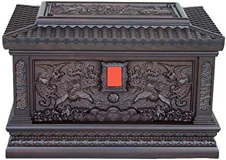 灰大人の骨壷 人間のための火葬骨壺 - ハンド木彫りの壺Casketのボックス - 大人の大型フィットの名残り最大360ポンド(13.4x9x9インチ)まで BUYT