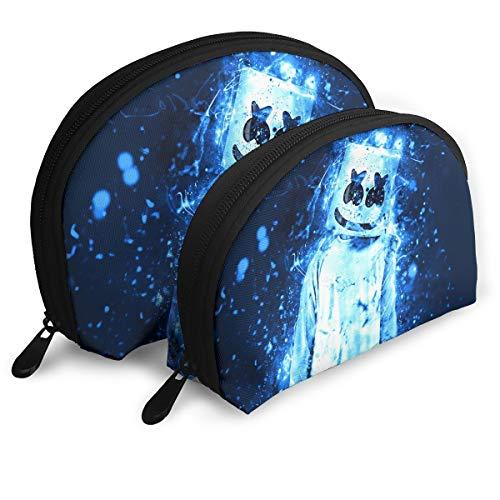 (Marshmello Dj Superstars Travel Shell Makeup Storage Bags Portable Toiletry Bag For Women Girl)