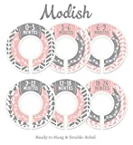 Modish Labels Baby Nursery Closet Dividers, Closet Organizers, Nursery Decor, Baby Girl, Woodland, Arrow, Tribal, Pink, Grey
