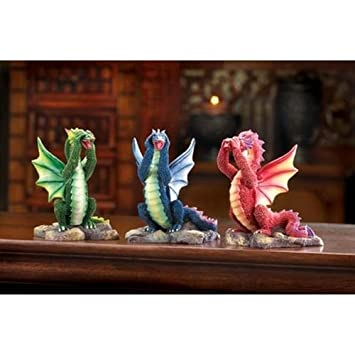 Gifts Decor NO NO Evil Dragons, Blue