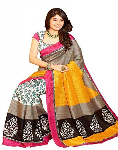 Vipul Bhagalpuri Silk Saree (Multicolor)