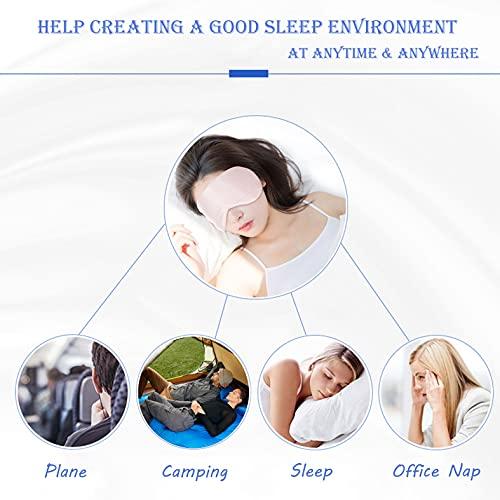 Silk Sleep Mask Pure Mulberry Silk Eye Mask Sleeping Mask Silky Soft Eyeshade Elastic Strap for Travel Naps Shift Work for Adult