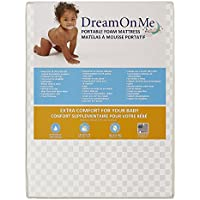 Dream On Me Travel Lite, Mini Foam Playard Mattress with Round Corner