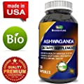 Best Ashwagandha Root Powder Capsules 1200 mg – Premium Relaxation Sleep Natural Supplement – Stress Relief Energy Rejuvenate 100% Pure Potent Ingredients for Women and Men By Biogreen Labs