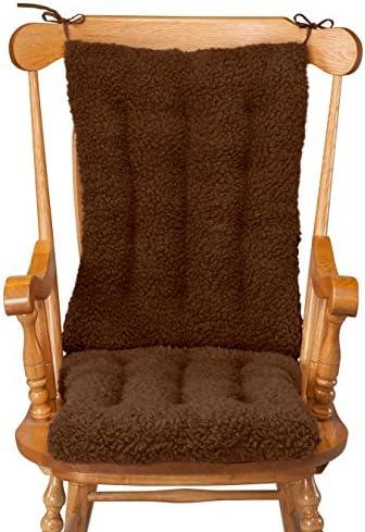 WalterDrake Sherpa Rocking Chair Cushion Set