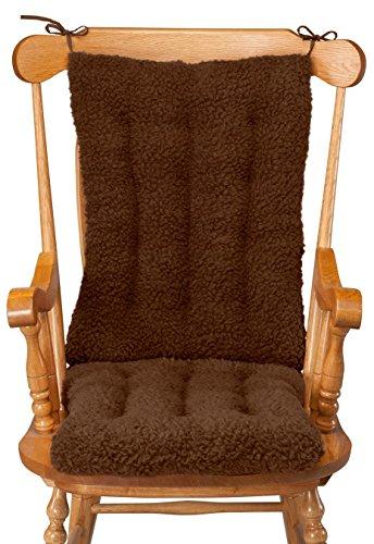 WalterDrake Sherpa Rocking Chair Cushion Set by OakRidge ComfortsTM
