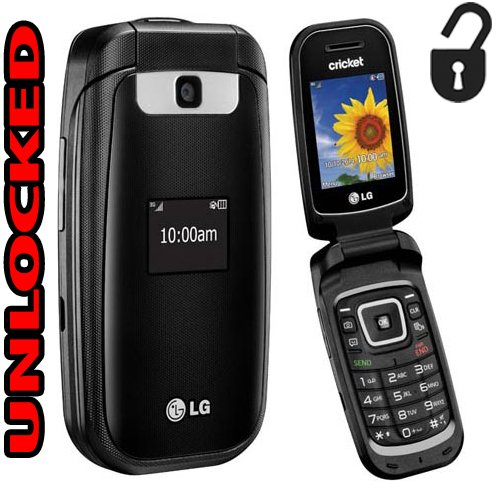 LG Flip Phone 3G True B460 GSM Unlocked Bluetooth Camera (Cricket) World Phone (NOT CDMA Carriers like Verizon Sprint Boost Mobile Virgin) by LG