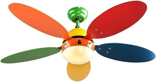 tren ventilador de techo se enciende la luz de vivero ventilador ...