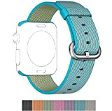 Apple Watch Nylon Band, PUGO TOP 2016 Woven Nylon Replacement Band for Apple Watch Series 2 Series 1 38mm, Scuba Blue Reviews