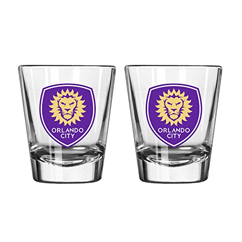Boelter Brands MLS Orlando City SC Satin Etch Shot Glass, 2-Ounce, 2-Pack