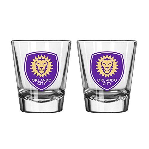Boelter Brands MLS Orlando City SC Satin Etch Shot Glass, 2-ounce, 2-Pack by Boelter Brands
