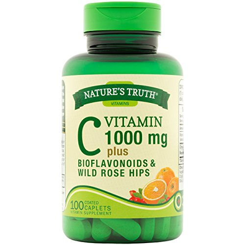 Nature's Truth Vitamin C with Bioflavonoids & Rose Hips, Tablets, 1,000 mg, 100 Count