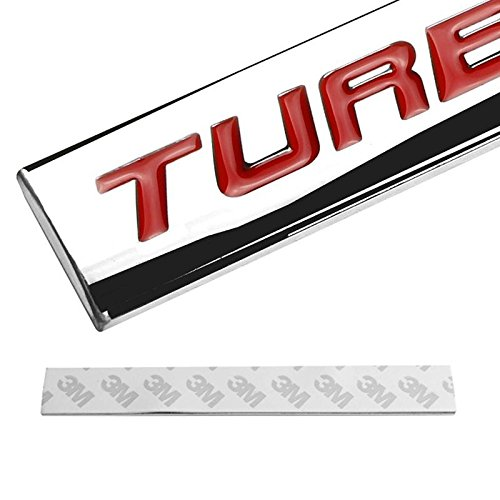 UrMarketOutlet TURBO DIESEL Black//Chrome Aluminum Alloy Auto Trunk Door Fender Bumper Badge Decal Emblem Adhesive Tape Sticker