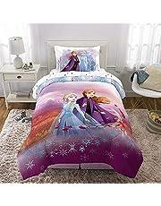 Disney Frozen Anna Elsa Olaf Kids Bedding Sheet Single Sheet Set with Comforter Single Bed in Bag 4 pcs Set