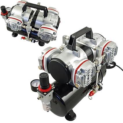 Aerógrafo compresor AS LED-48 A – Cuatro Cilindro pistón compresor, sin aceite
