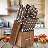 Knife Set, 15pcs Kitchen Knife Set with Wooden