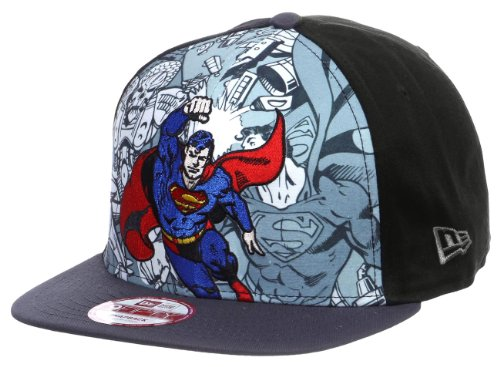 New Era 9fifty Superman Hero break Gray Print Men's Snapback Hat cap size - New Cap Era Print Hat