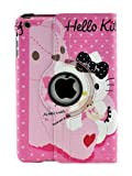 LiViTech(TM) Hello Kitty Design 360 Degree Rotating PU Leather Hard Case for Apple iPad 4 3 2 iPad Mini (iPad Mini, Color 5)