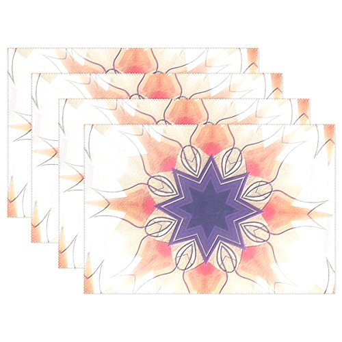 YPink Illustration Art Fractal Gimp Placemats Set Of 4 Heat Insulation Stain Resistant For Dining Table Durable Non-slip Kitchen Table Place Mats ()