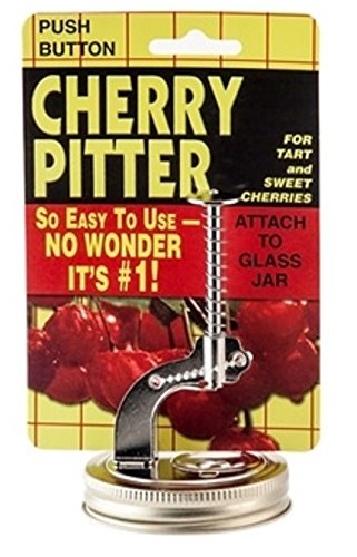 Tony's Push Button Mason Jar Cherry or Olive Pitter - For Tart or Sweet Cherries