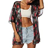 Best OVERMAL Bathing suits - OVERMAL Hot Sale Kimono Cardigan Womens Flowers Print Review