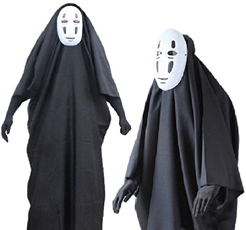 Horries Fancy No-Face Spirited Away Cosplay Costume with Mask gloves for (Spirited Away Cosplay Costume)