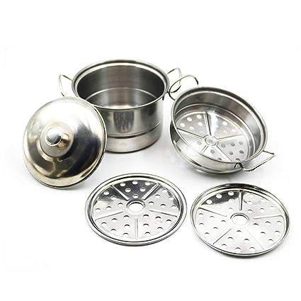 Juego de ollas y sartenes de acero inoxidable, juego de teepao para cocina, accesorios