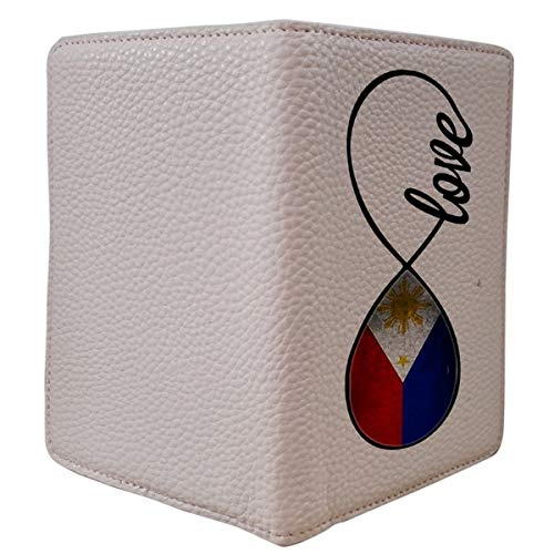 [OxyCase] Designer Light Weight PU Leather Passport Holder Cover/Case - Infinity Love Philippines Flag Filipino Flag Design Printed Cute Travel Wallet for Girls/Women