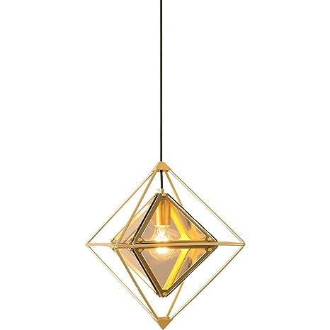 ZQH Creativo Diamante Colgante de luz, Moderno Vaso ...