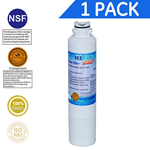 Price comparison product image Icepure RWF0700A 1PACK Refrigerator Water Filter Compatible with Samsung DA2900020B, DA2900020A