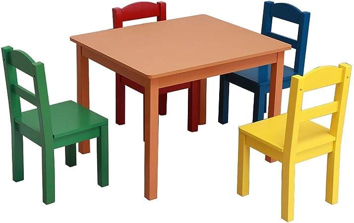 Juego de Mesa y sillas para niños Cuiron - 4 sillas y 1 Mesa de Actividades para niños Silla de casa por Cuiron: Amazon.es: Hogar